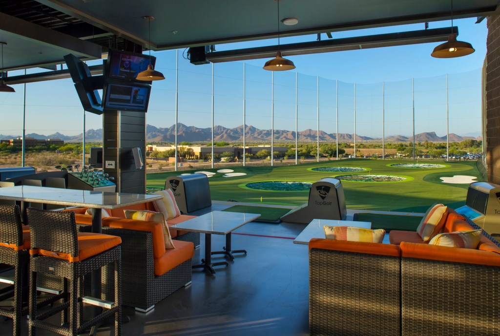 TopGolf - 5 minutes away