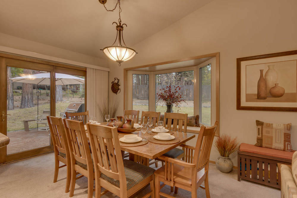 The Dining Room offers extensive views and natural light from all the windows