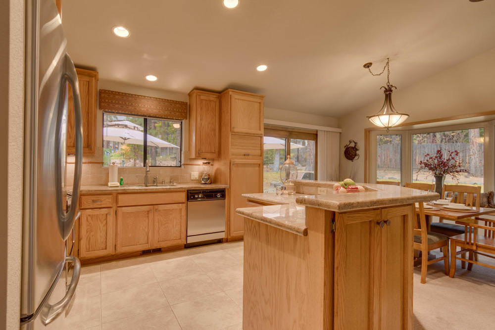 The Kitchen is fully equipped with stainless stell appliances and abundance of counter space