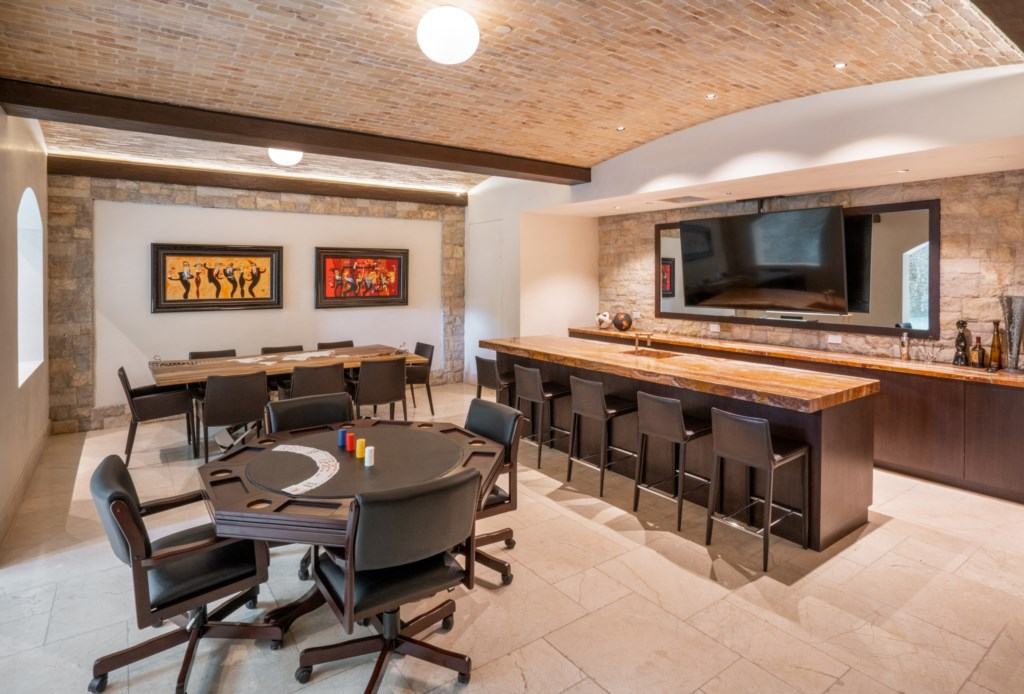 Game Room and Bar by Pool