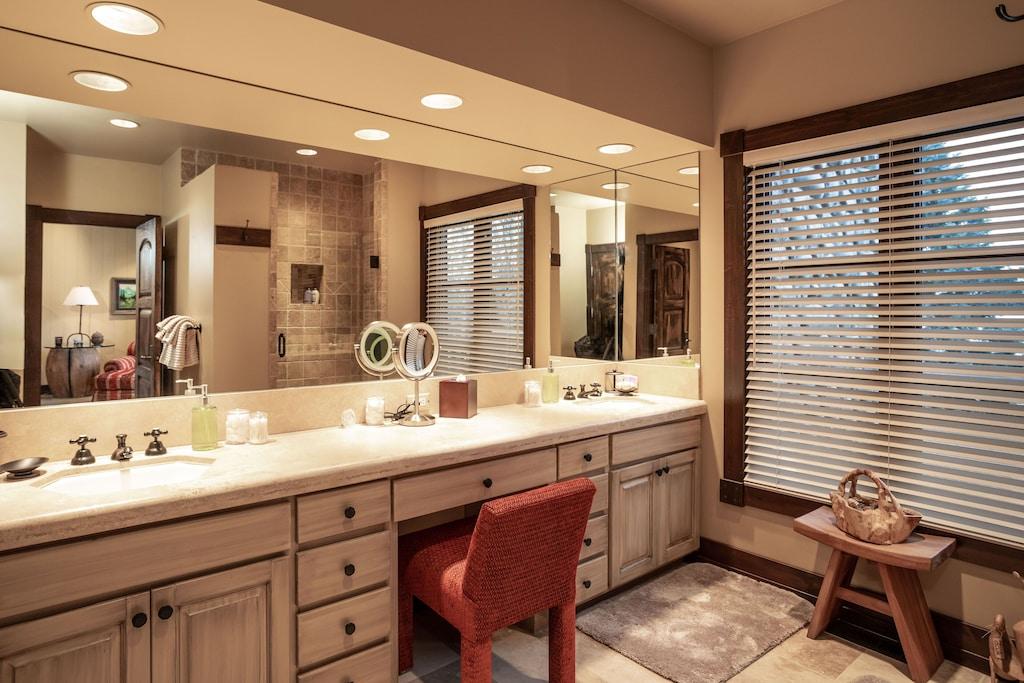 Main level suite bathroom