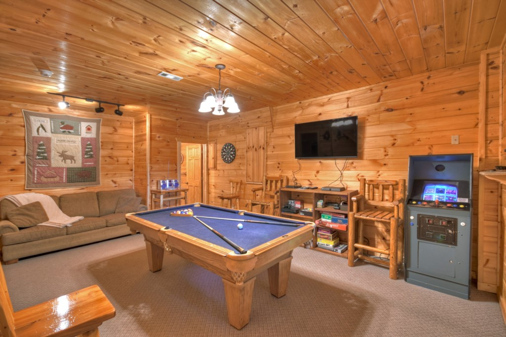 Bring out your competitive side in the Games room, with Pool Table, Arcade Game and a Gaming table