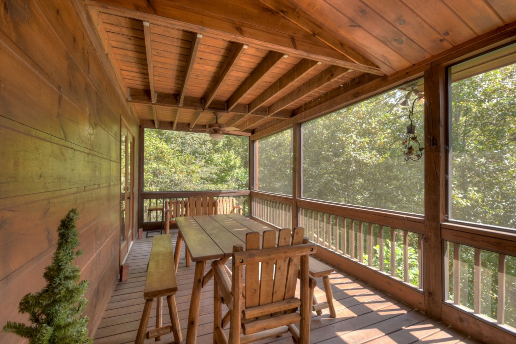 Large screened-in deck to take advantage of outdoor living at anytime