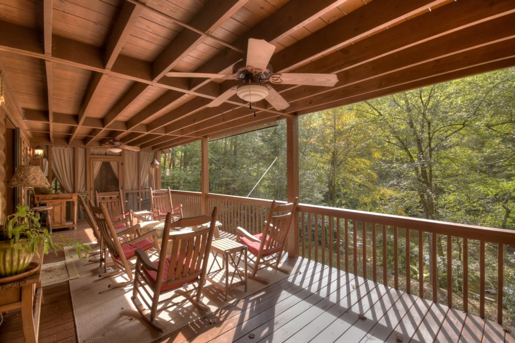 Sit back and take in the serenity and breathtaking views from your porch