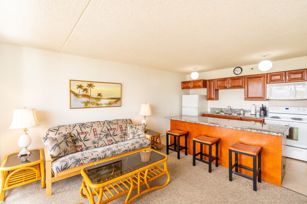 Living room - with futon that can accommodate 2 guests