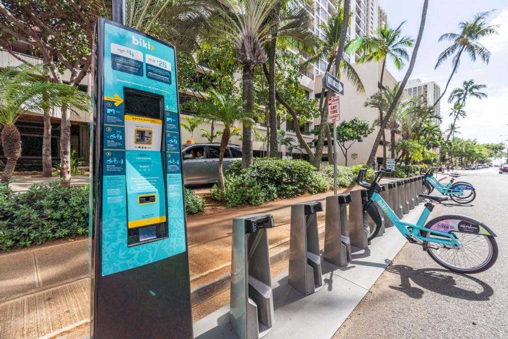 Bike rental station