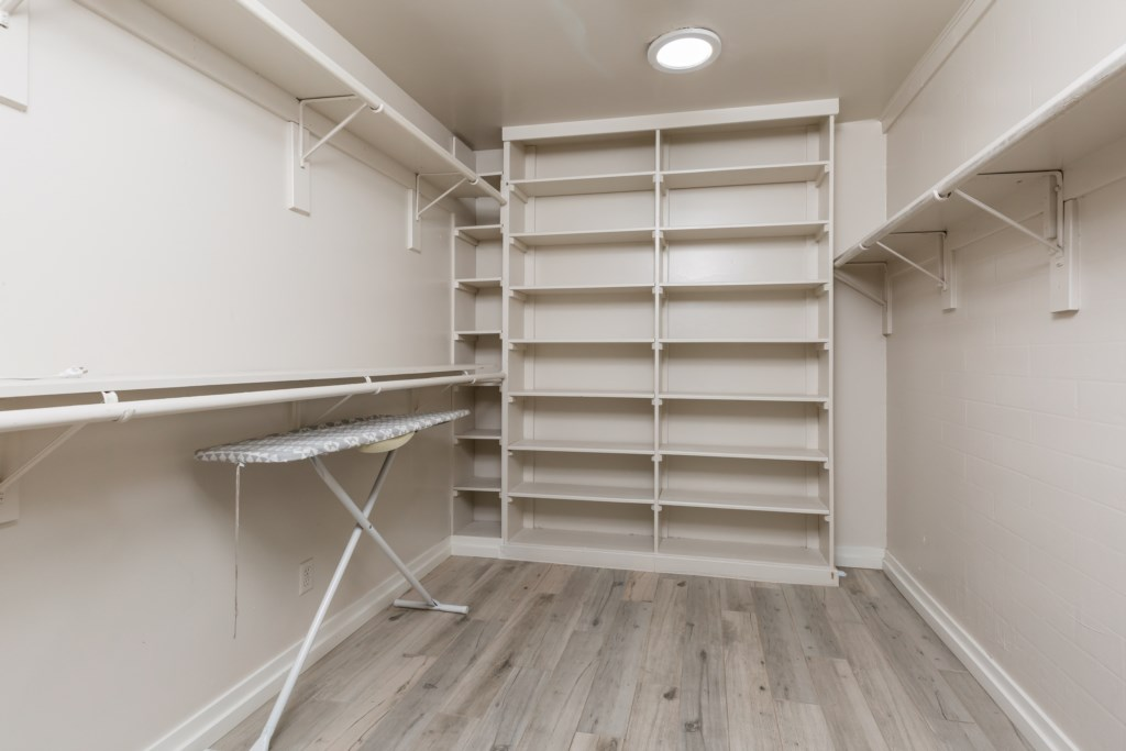 Master closet with lots of space