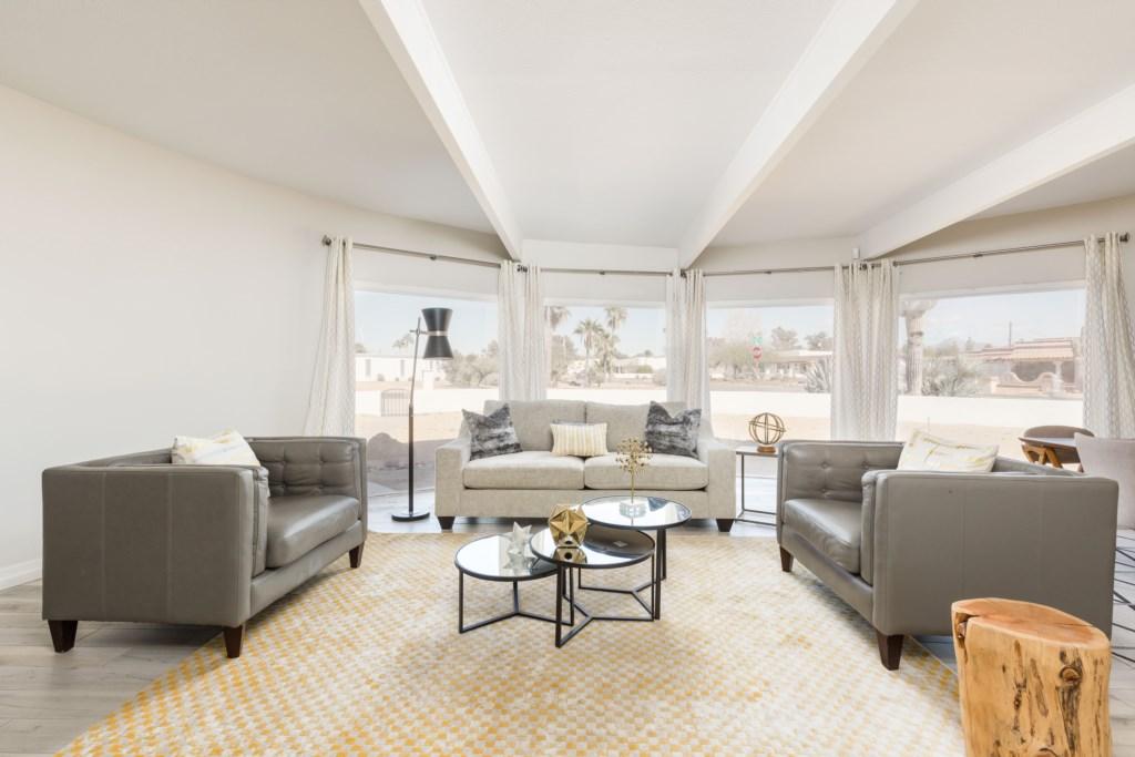 Entryway living room