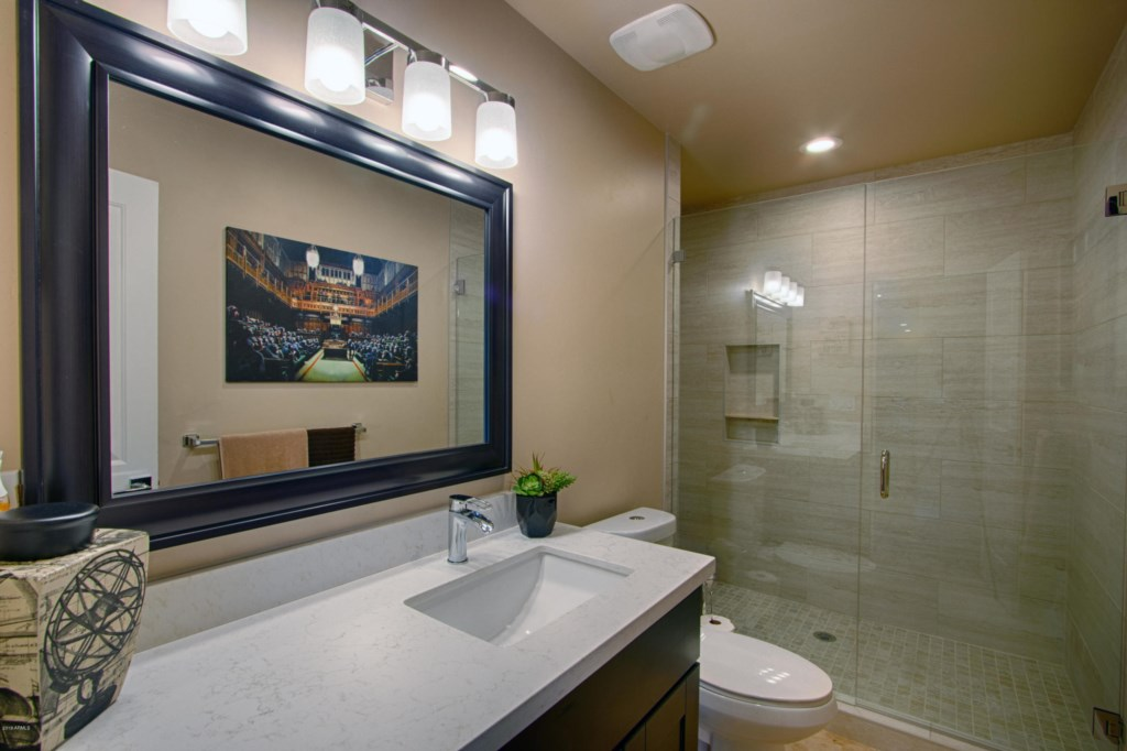 2nd Bathroom with large walk-in shower