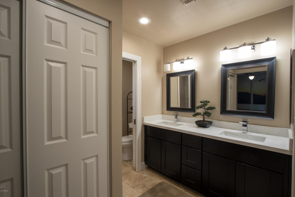 3rd Bathroom with double sink vanity