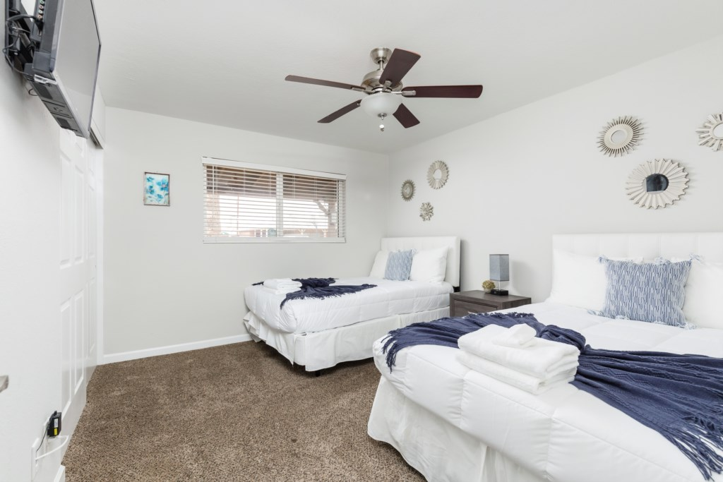 3rd Bedroom with 2 Full Beds and en-suite bathroom  **These are stock photos. Real photos will be updated 1/20**