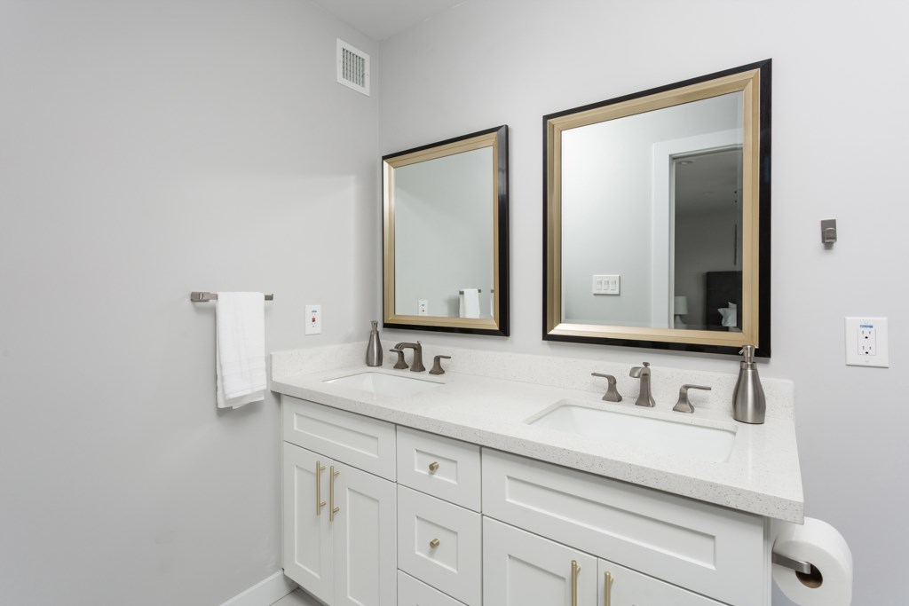 2nd bathroom with large double vanity