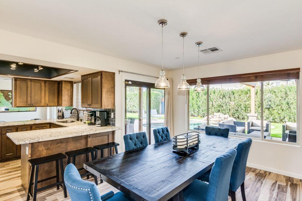 Open Dining/Kitchen area