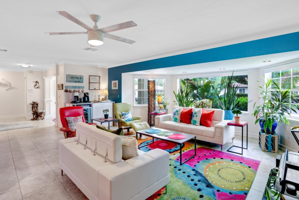 Vibrant main living area