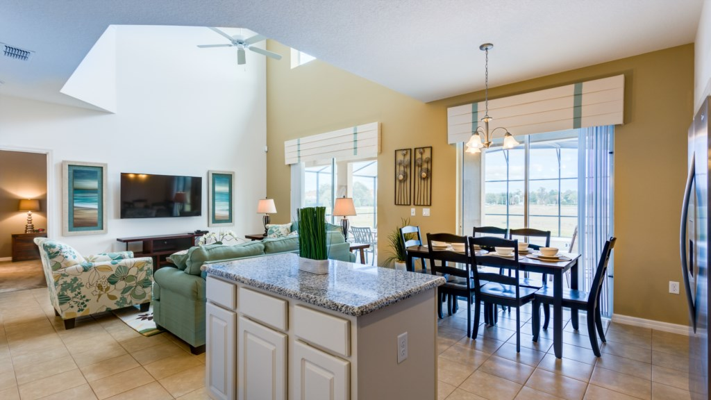 6. 6 Bed Villa in Florida, nea Disney - open plan accommodation.JPG