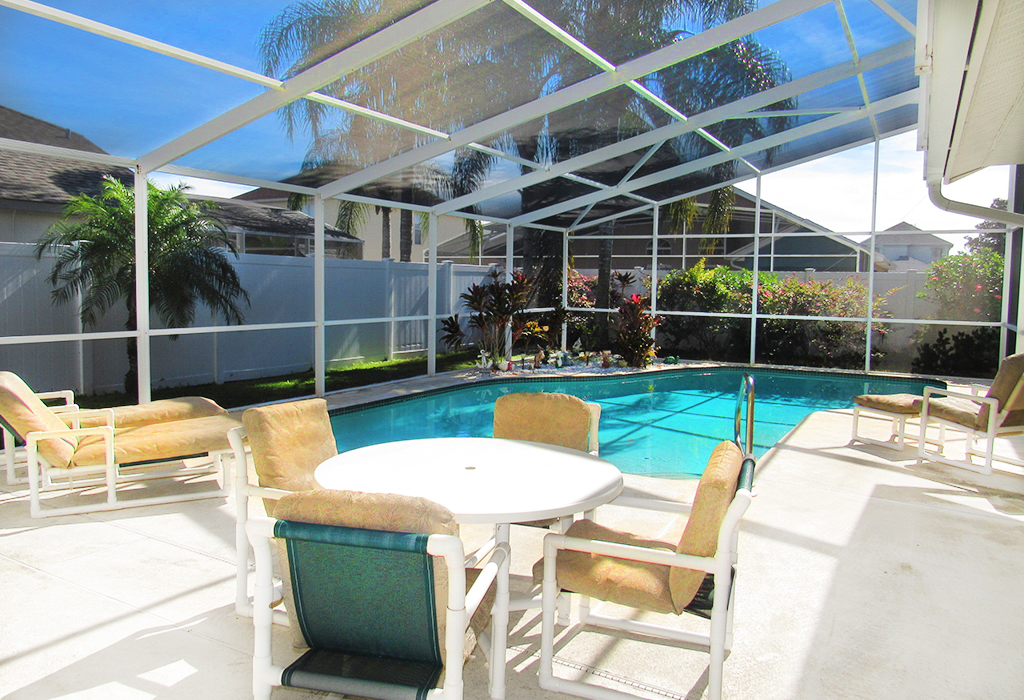 Privacy fence surrounding the pool offers you extra privacy.