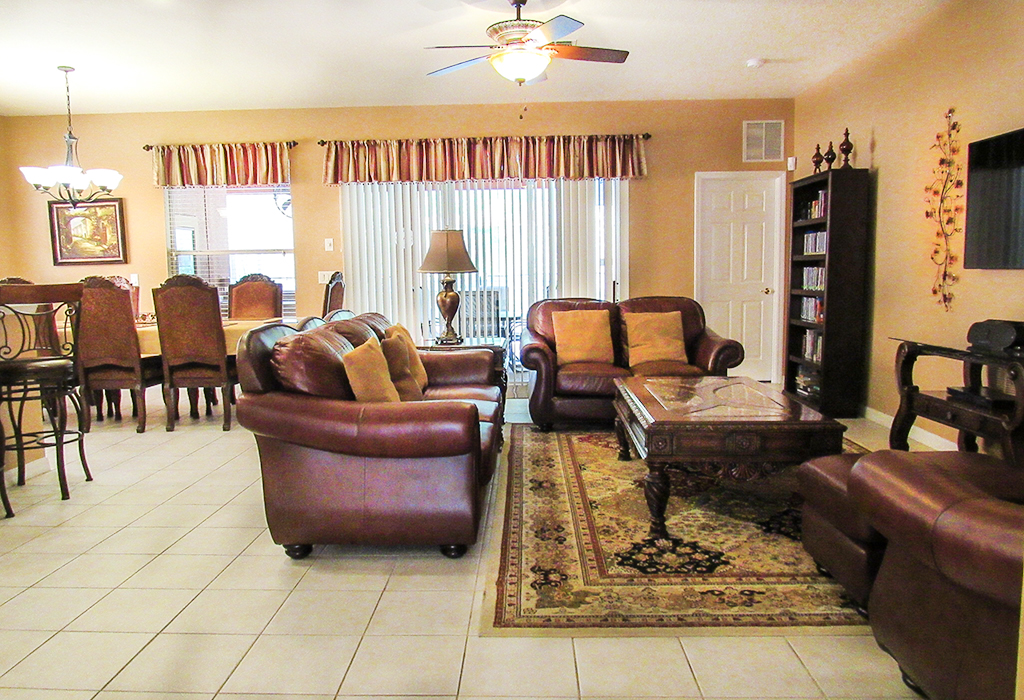 Family room with direct access to your very own private pool.