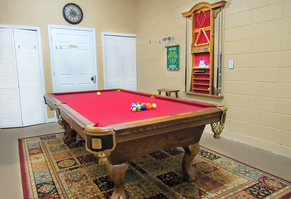Games room with pool table included with your stay!