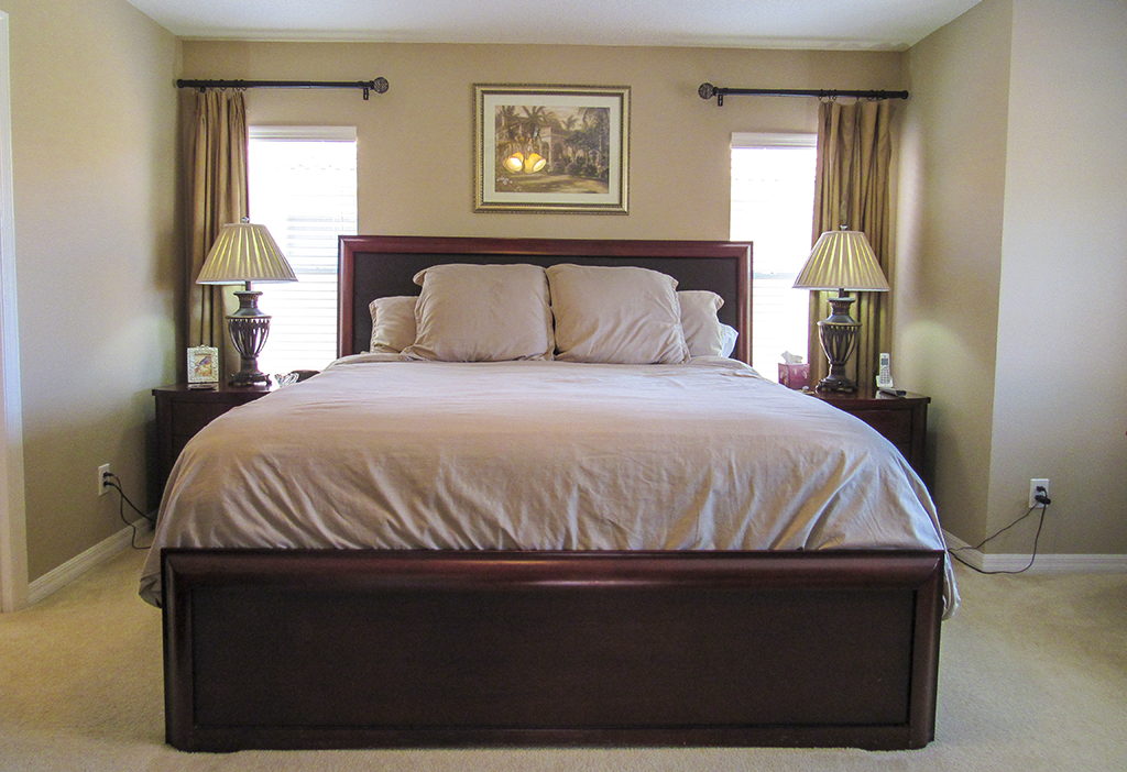 Master Bedroom with king size bed and en-suite bathroom.