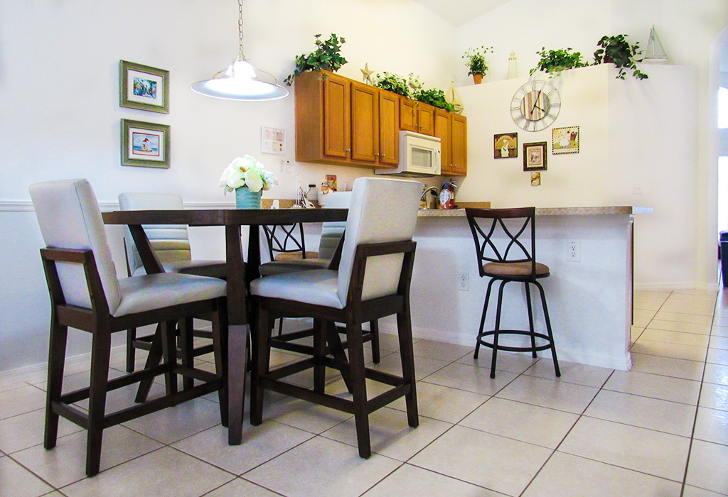 Kitchen dining area for convenient and additional dining.