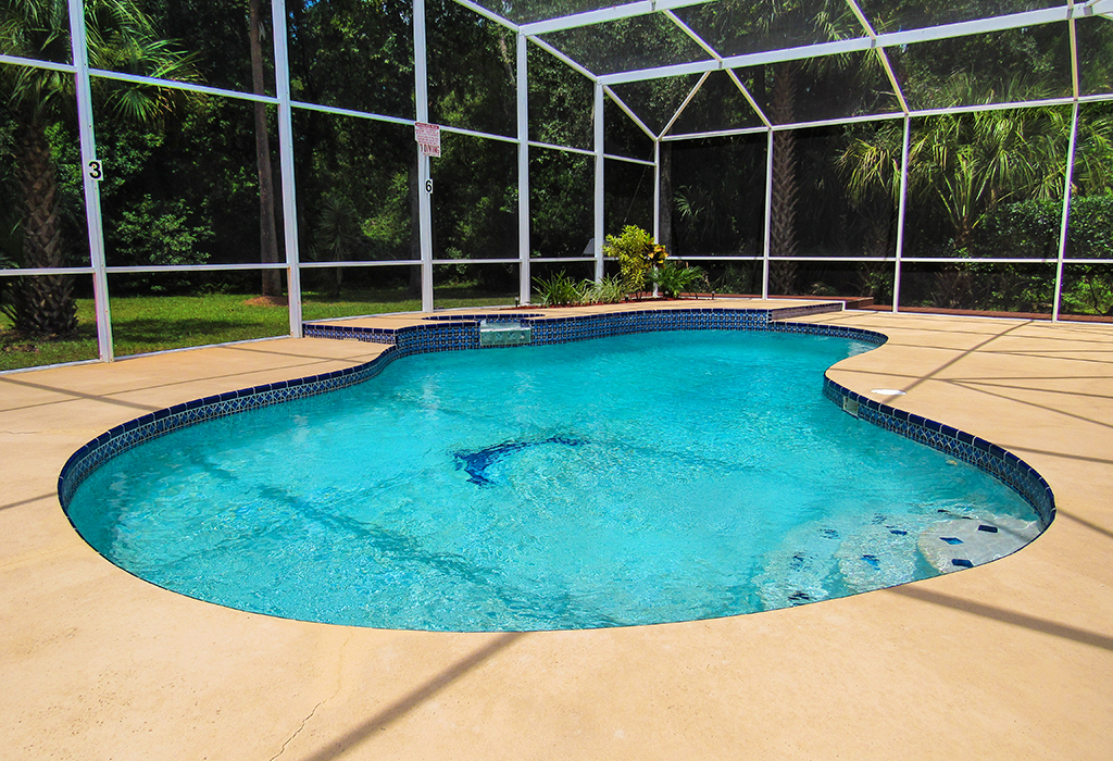 Your pool is enclosed to keep you comfortable and keep the water fresh.