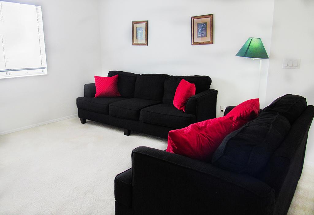 Cozy loft seating area.