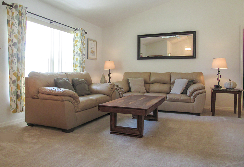 Family room has plenty of seating for the family.