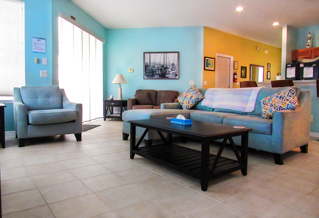 Family room with plenty of comfortable seating for all the family.