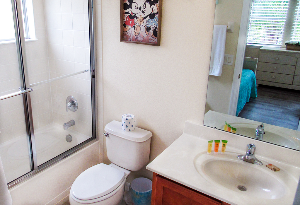 Twin en-suite bathroom, also with walk-in shower!