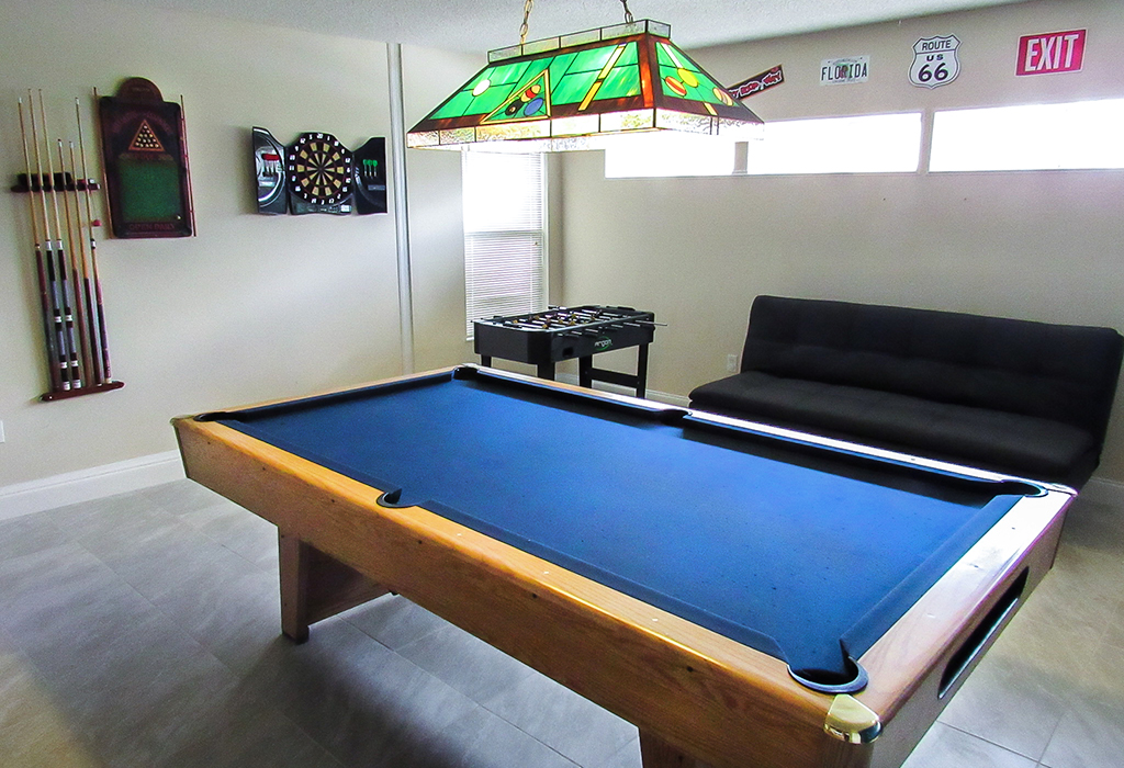 Enjoy shooting pool in the games room!