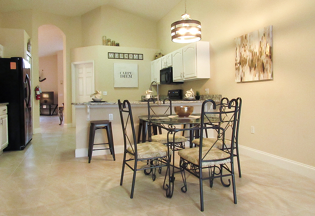 Open plan kitchen and dining area brings everyone together.