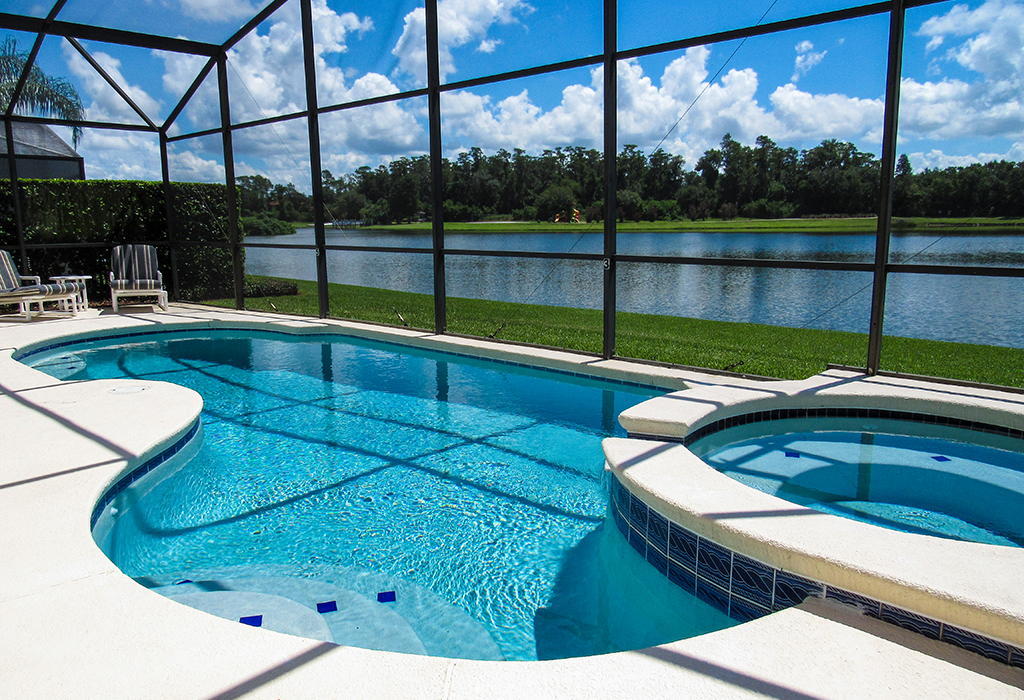Amazing lakeside view from your very own private pool!