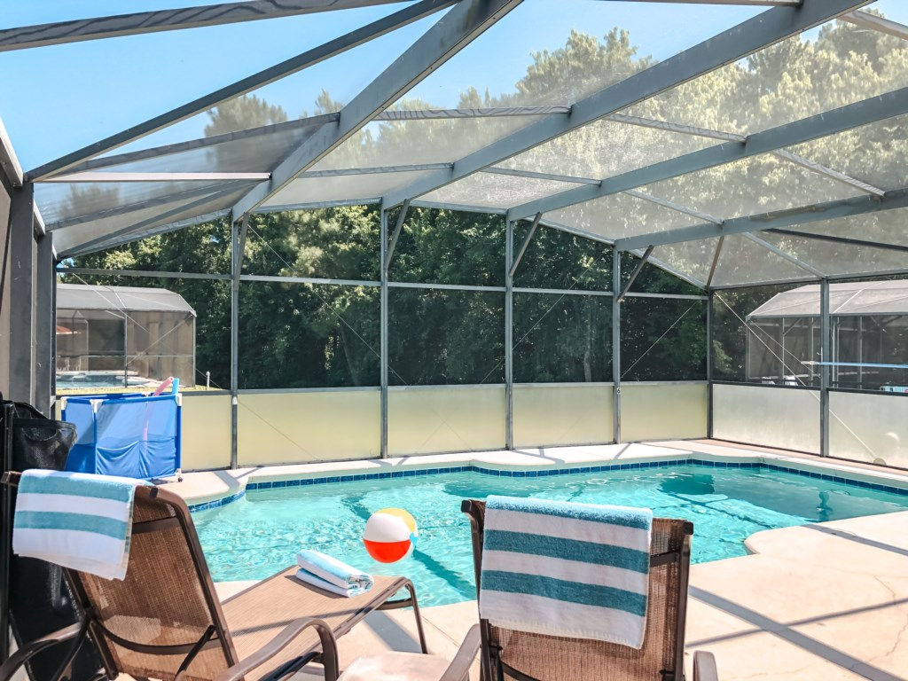 Everyone's favorite place, the pool area to soak up the sun and play in the pool!