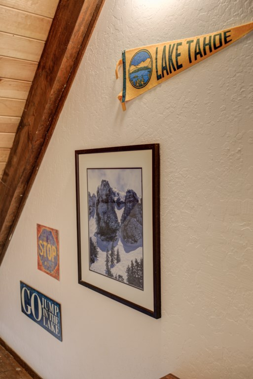 Lots of Art displayed throughout the home