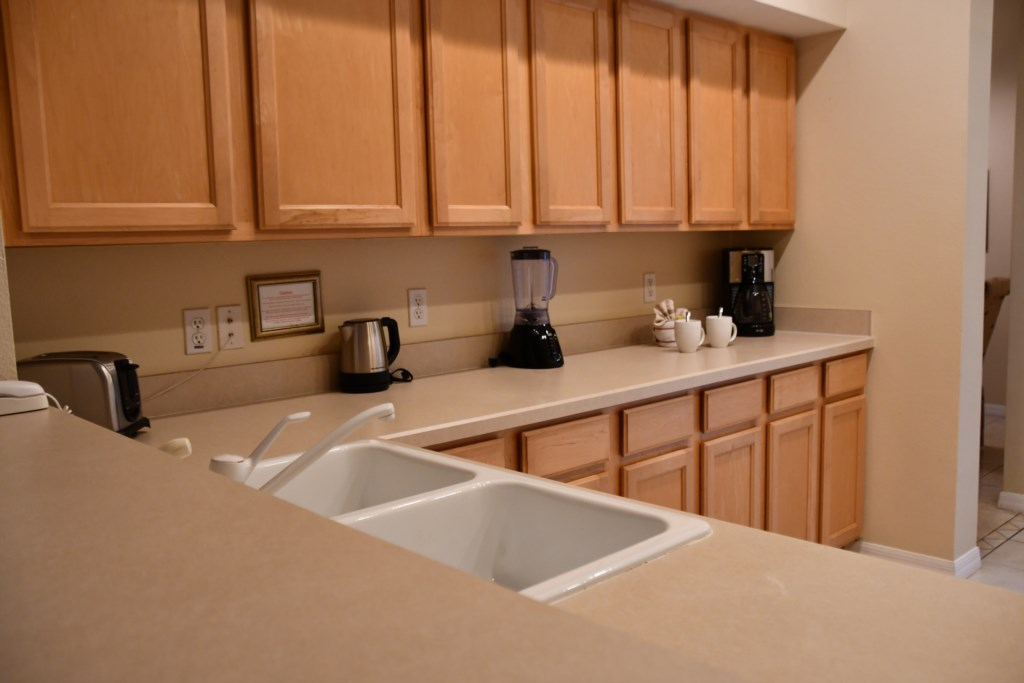 Plenty of cabinet and counter space to produce snacks or gourmet meals