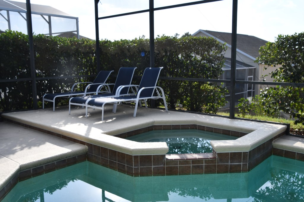 Relax in your Private spa and soak up the Florida Sunshine
