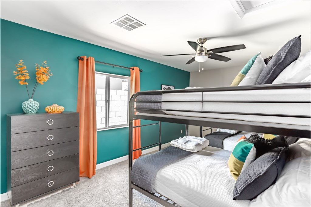 4th Bedroom with 4 Full Beds (Bunk Beds)
