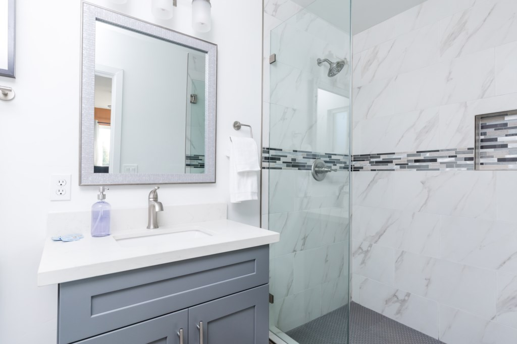 Master Bathroom with large walk in shower