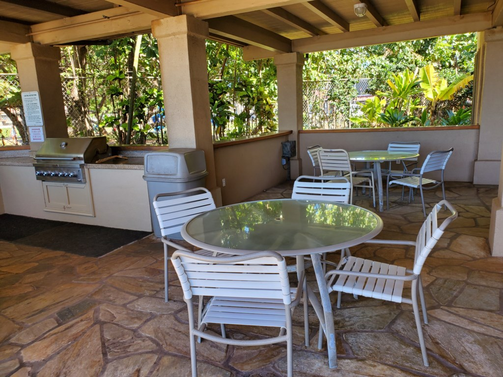 Ample patio space for family outdoor dining and relaxation