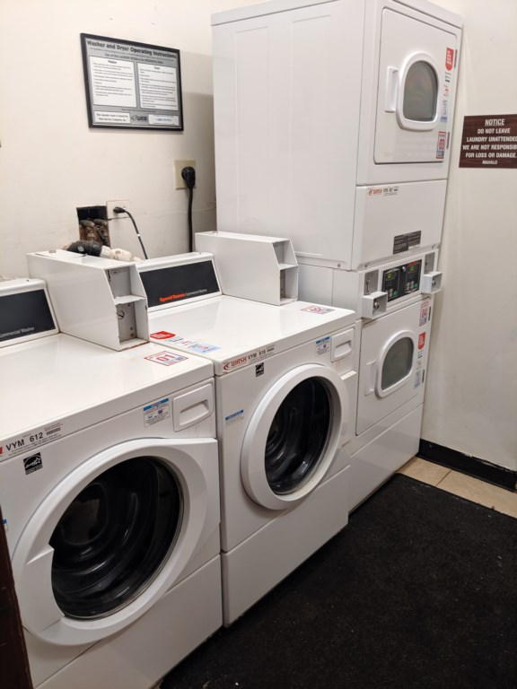 Full laundry facilities are for use on the property