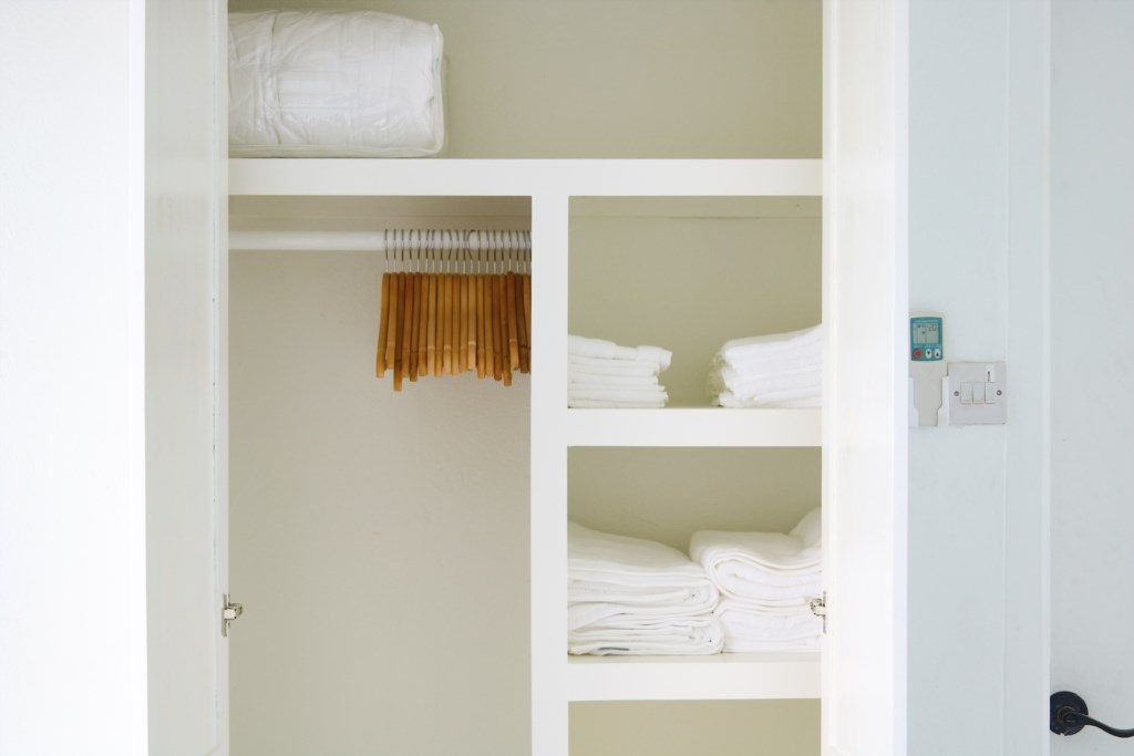 Closet space in bedroom two and three.