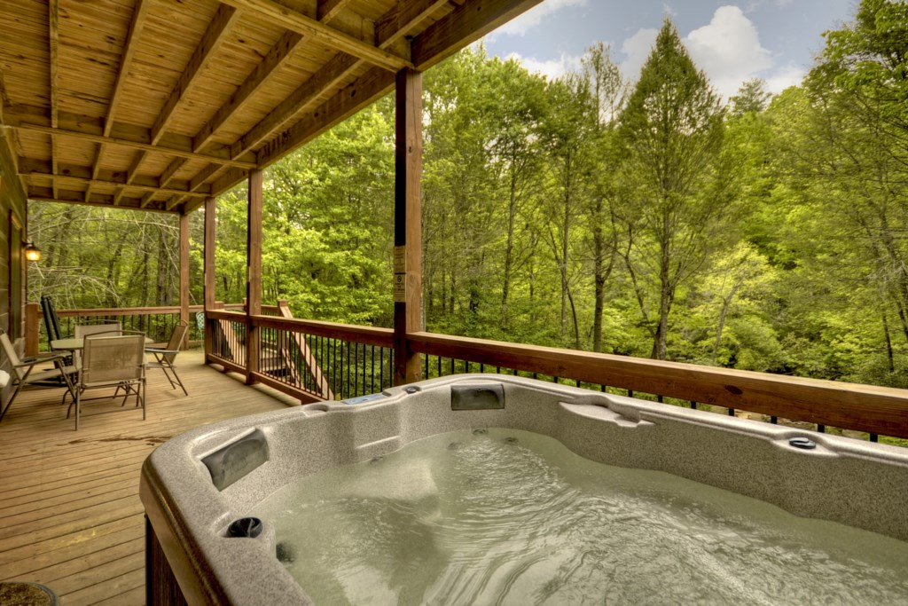 Hot tub located off Terrace level Game Room