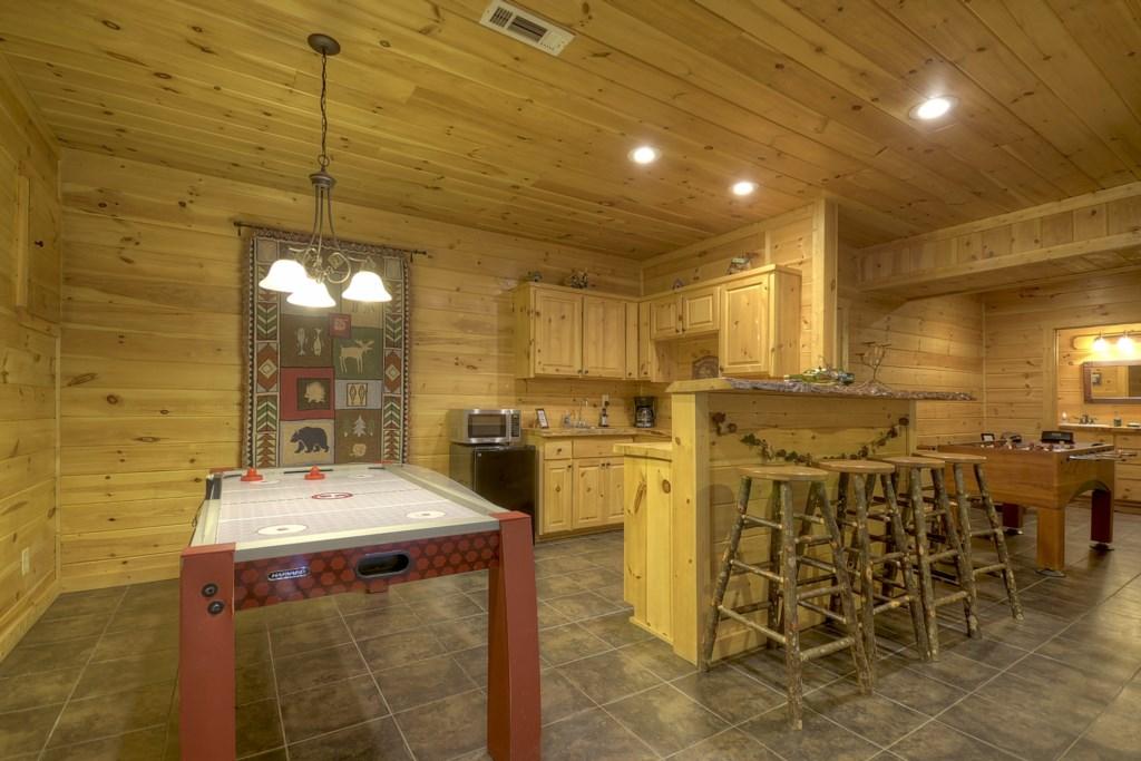 Terrace level game room/ bar area
