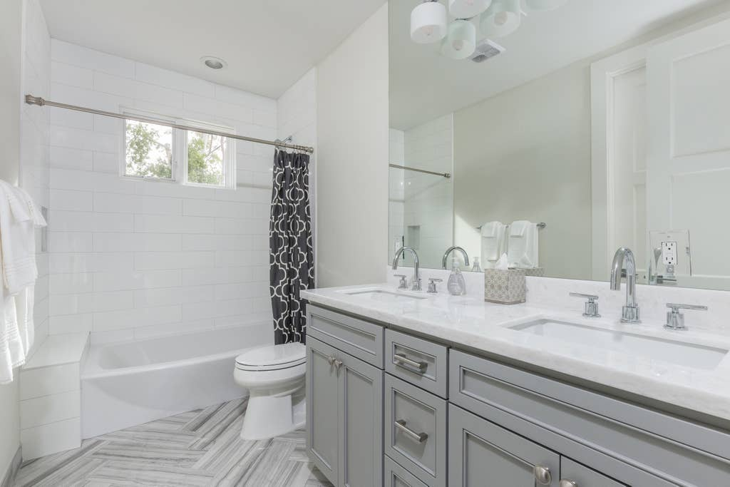 All baths have Italian tile, faucets, and lighting
