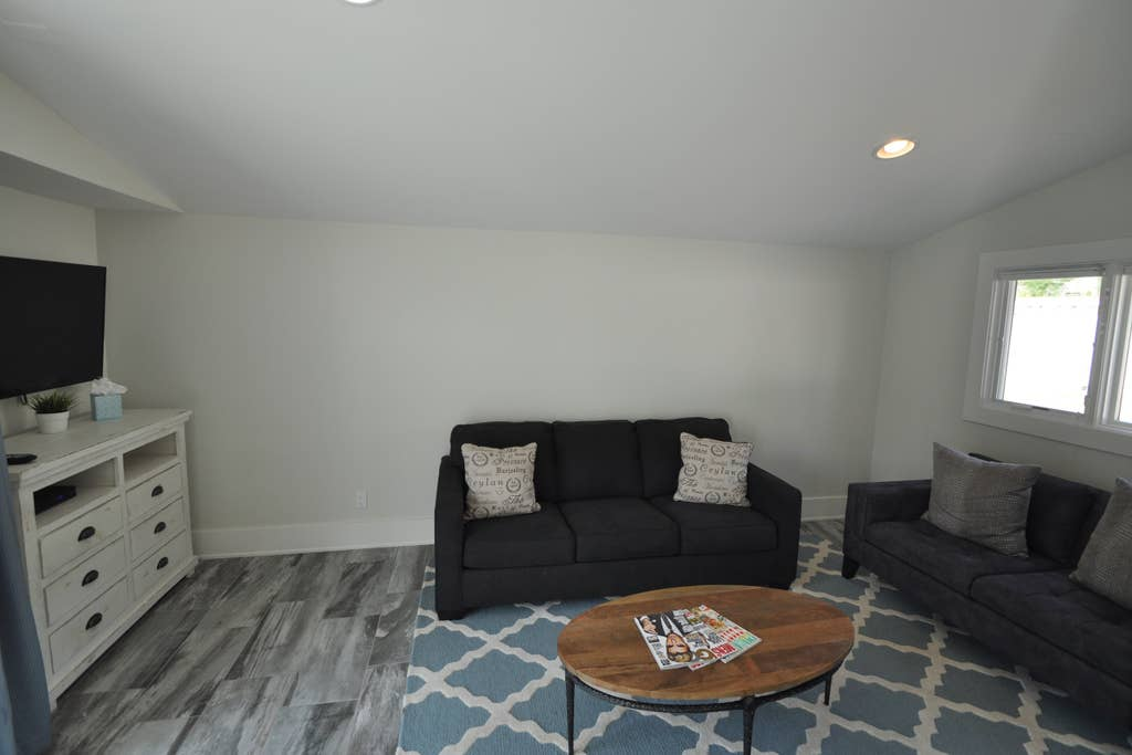 Guest living room with pull out sofa beed