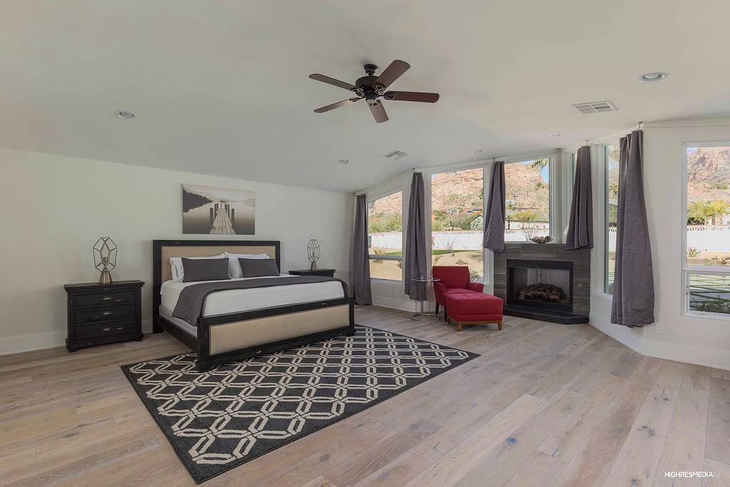 Amazing master suite is 1200 sq ft by itself. 180 views of camelback mountain from every window!
