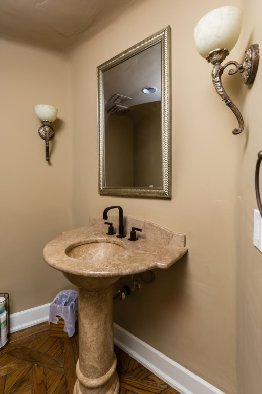 Half bathroom in hallway