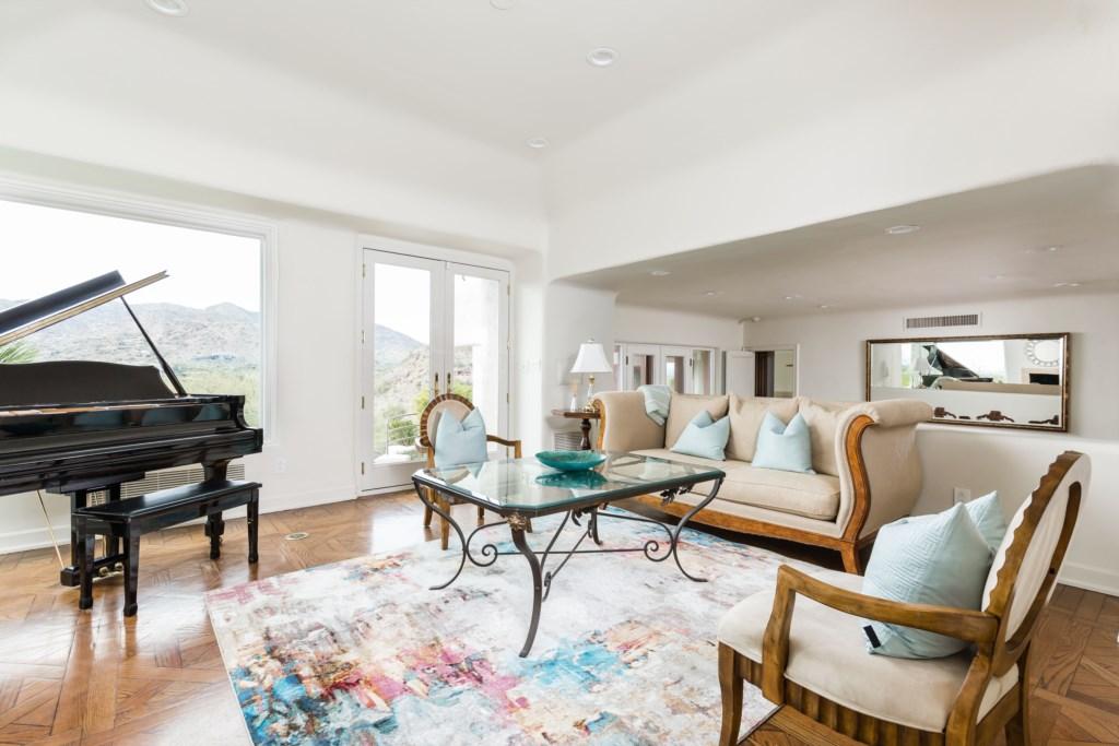 Formal living room upon entrance
