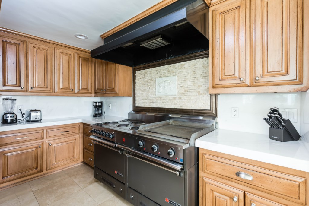 Chef's kitchen with updated appliances