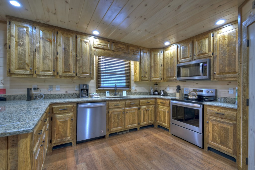 Spacious kitchen with all you will need to feel home from home